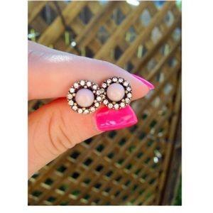 Delicate Blush Stud Earrings